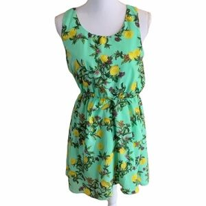 Pink Owl Lemon Floral Dress Size Medium